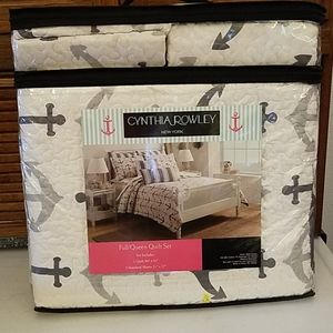 Cynthia Rowley 3-piece Anchor quilt set